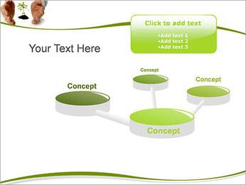 Les mains et les plantes Modèles des présentations  PowerPoint - Diapositives 9