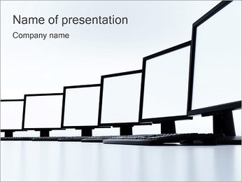 Monitors PowerPoint Template