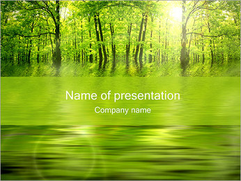 Green Trees PowerPoint Template