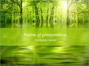 Green Trees PowerPoint Templates