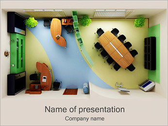 Office Interior PowerPoint Template