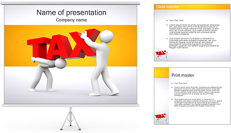 Tax PowerPoint Template Backgrounds ID 0000001348 – Tax Templates
