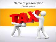 税 PowerPointプレゼンテーションのテンプレート