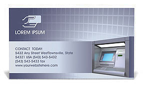 ATM Business Card Template