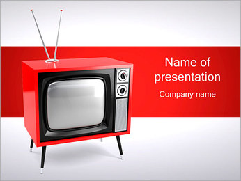 Old Red TV Plantillas de Presentaciones PowerPoint
