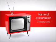 Old Red TV PowerPoint Templates