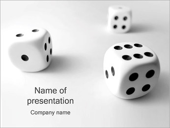 Game of Dice PowerPoint Template