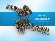 Two Arrows of People PowerPoint Templates