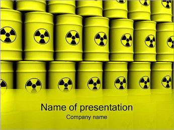 Barrels with Radioactive Waste PowerPoint Template