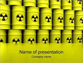 放射性廃棄物とバレル PowerPointプレゼンテーションのテンプレート