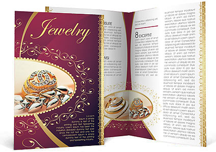 Jewelry Brochure Template  Design Id   SmiletemplatesCom