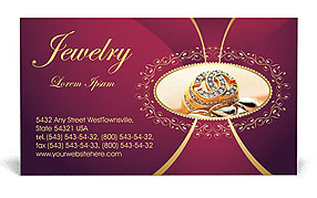 Jewelry Business Card Template Design ID - Jewelry business card templates