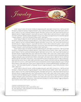 Jewelry letterhead template design id 0000001362 smiletemplates jewelry letterhead template spiritdancerdesigns Images