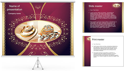 Jewelry PowerPoint Template Backgrounds ID 0000001362 – Powerpoint Flyer Template
