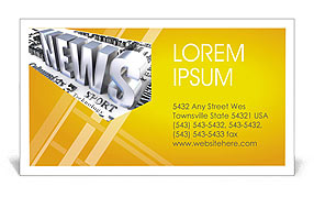News Business Card Templates