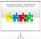 Quebra-cabeças Gráficos e diagramas para o PowerPoint