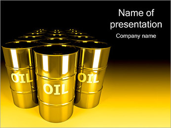 Oil Barrels PowerPoint Template