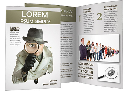 detective brochure template & design id 0000001372, Presentation templates