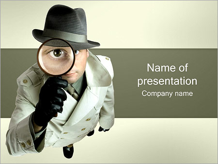 detective powerpoint template & backgrounds id 0000001372, Presentation templates