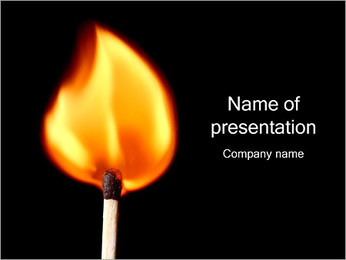 Match Fire PowerPoint presentationsmallar