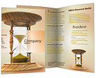 Sand Clock Brochure Templates