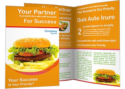 Hamburger And Fries Brochure Template
