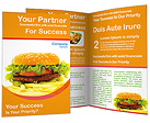 Hamburger and Fries Brochure Templates