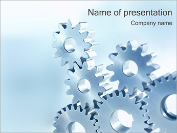 金属歯車 PowerPointプレゼンテーションのテンプレート