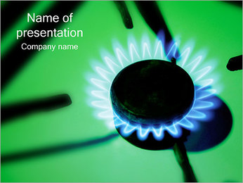 Gas Flame PowerPoint šablony
