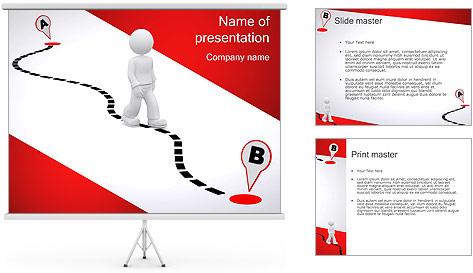 Do ponto A ao B Modelos de apresentações PowerPoint