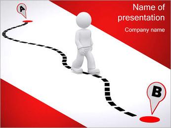 Do ponto A ao B Modelos de apresentações PowerPoint - Slide 1