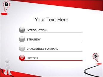 Do ponto A ao B Modelos de apresentações PowerPoint - Slide 3