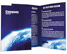 Alien Blue Planet Brochure Templates