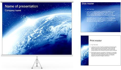 Alien Blue Planet PowerPoint Template