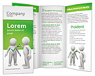 Person and Check Mark Brochure Templates