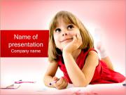 Little Girl Drawing PowerPoint Templates