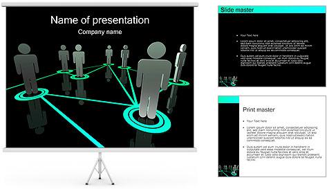 Pessoas Rede Modelos de apresentações PowerPoint
