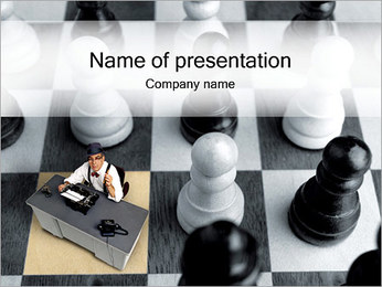Writer and Chess PowerPoint Template