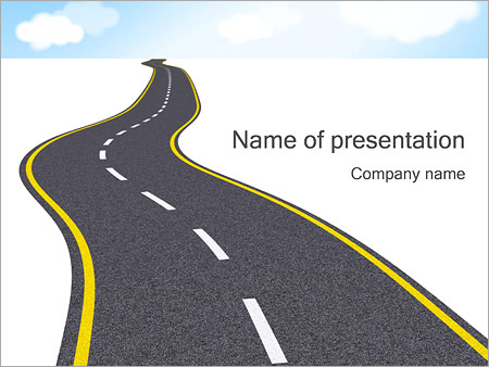 long road powerpoint template & backgrounds id 0000001392, Modern powerpoint