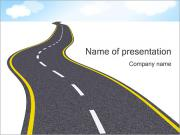 Long Road Plantillas de Presentaciones PowerPoint