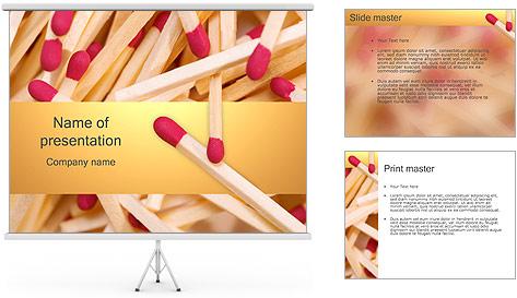 Allumettes Modèles des présentations  PowerPoint