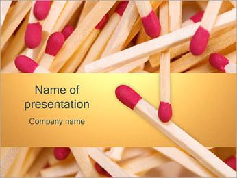 Allumettes Modèles des présentations  PowerPoint - Diapositives 1