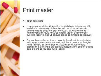 Allumettes Modèles des présentations  PowerPoint - Diapositives 24