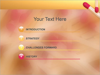 Allumettes Modèles des présentations  PowerPoint - Diapositives 3