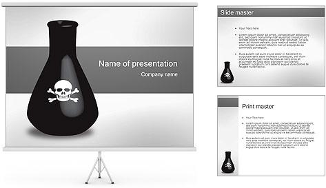Bouteille de poison Modèles des présentations  PowerPoint