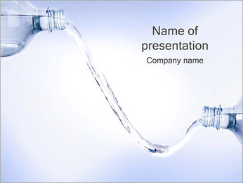 Water Bottle PowerPoint Template