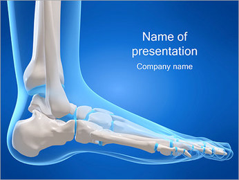 X-ray Foot PowerPoint Template