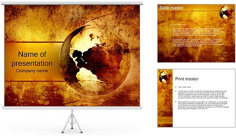 Carte antique Modèles des présentations  PowerPoint