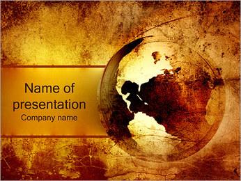 Carte antique Modèles des présentations  PowerPoint - Diapositives 1
