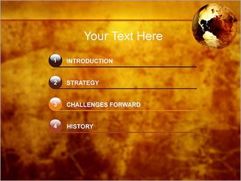 Carte antique Modèles des présentations  PowerPoint - Diapositives 3